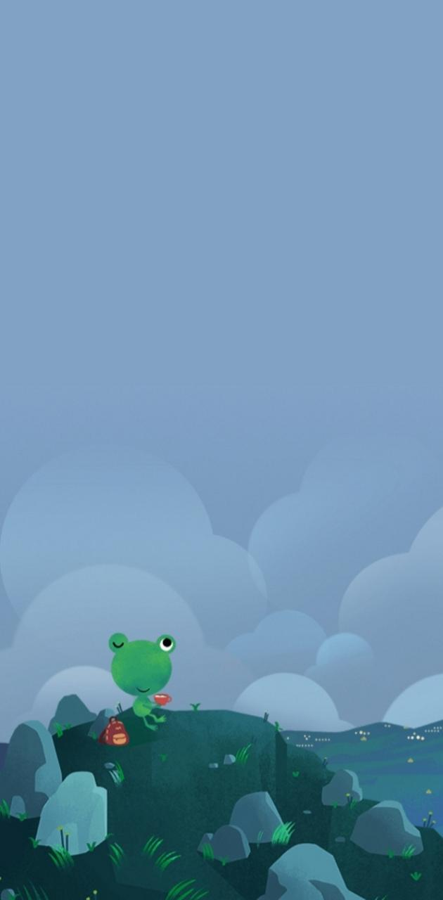 Cloudy day Frog