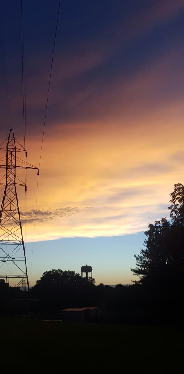 Kansas summer sunset