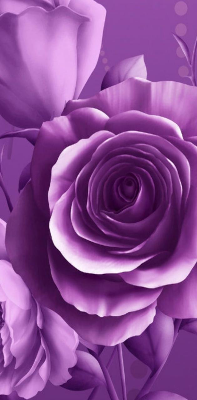 Floral Purple Roses