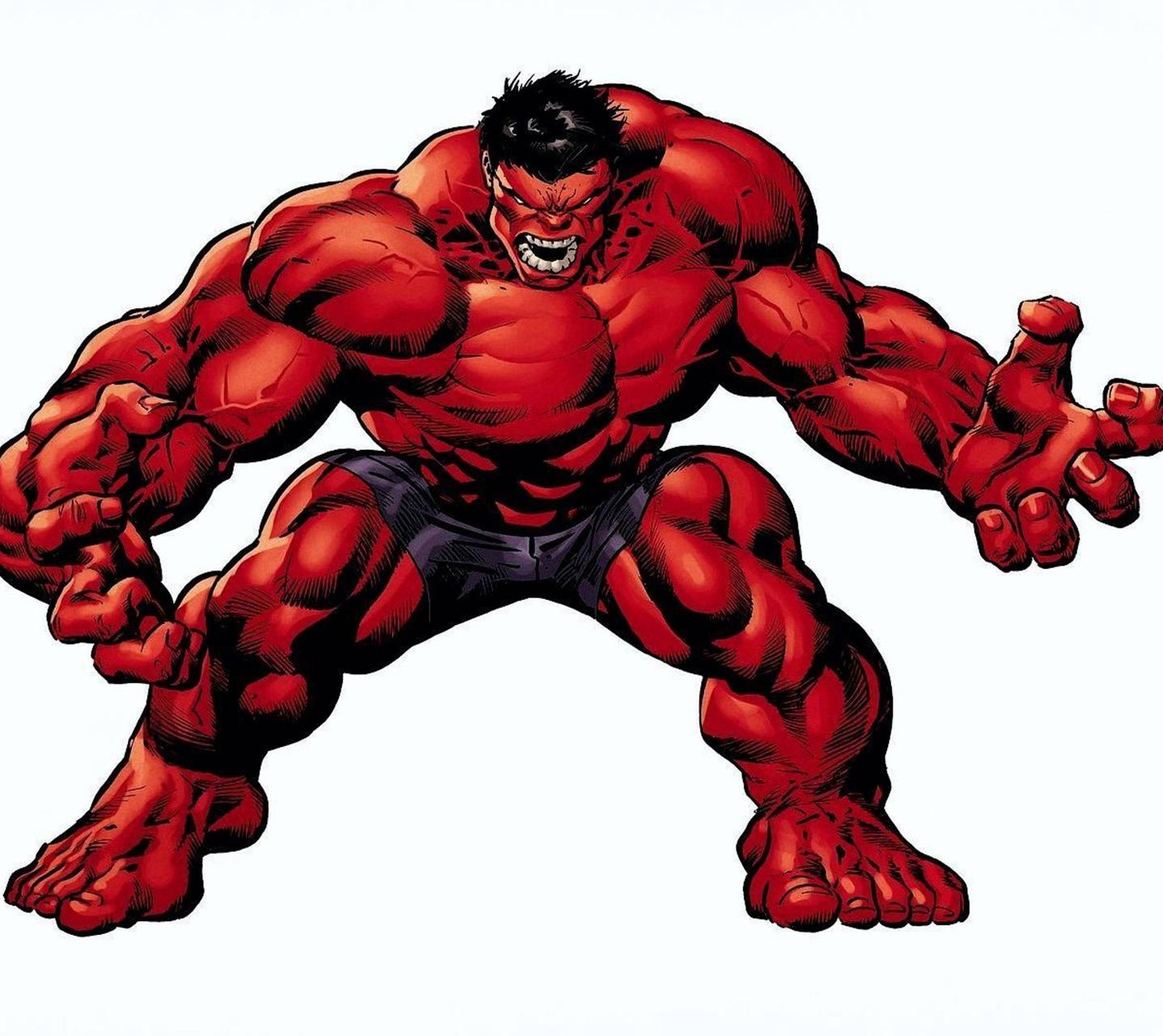 Angry red Hulk