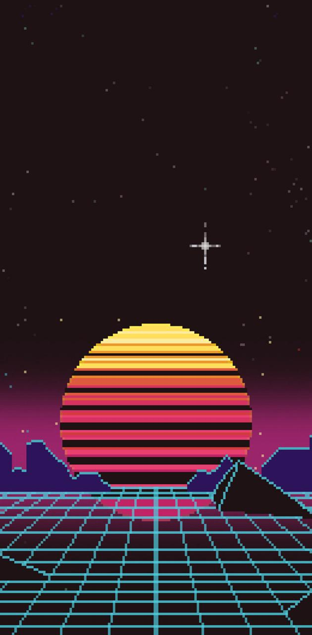 Retro Pixel Sunset