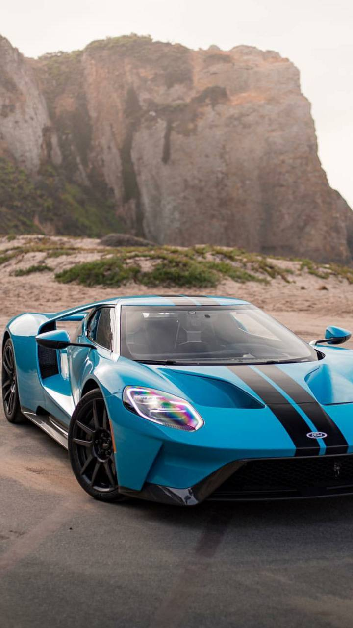 Baby Blue Ford GT