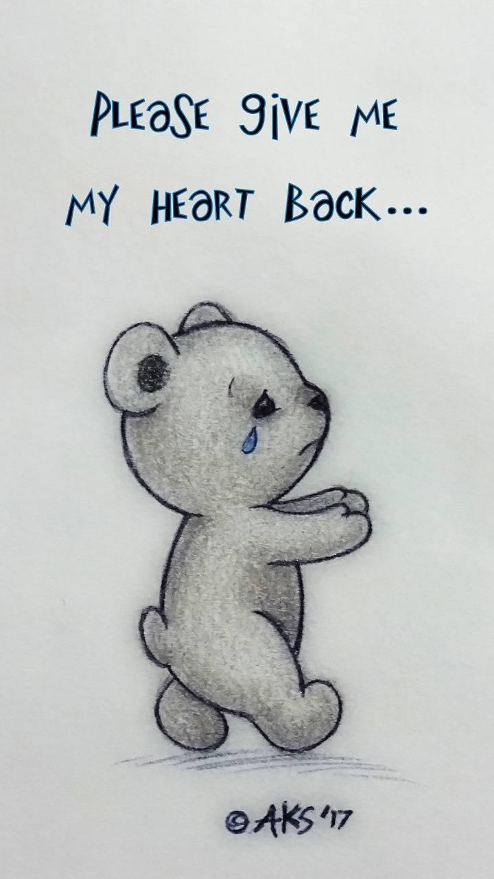 Heart Back Bear