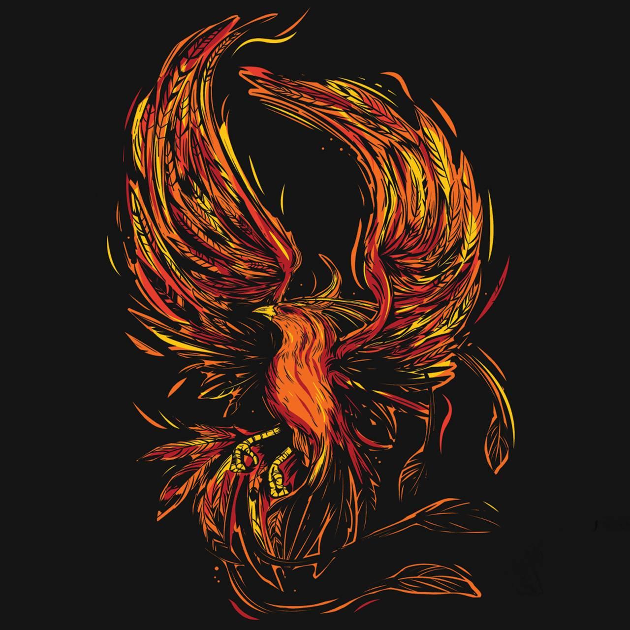 Red Phoenix Art