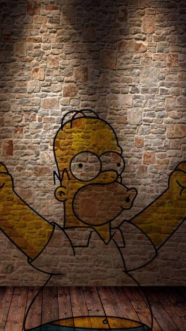 Homer On The Wall v2
