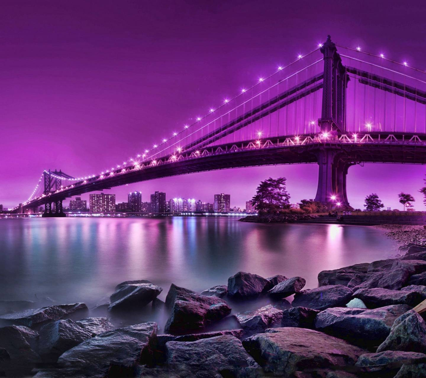Pink Bridge Hd Wallpaper by __LOV3ABL3__ - 22