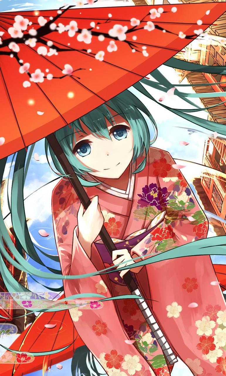 Miku in kimono