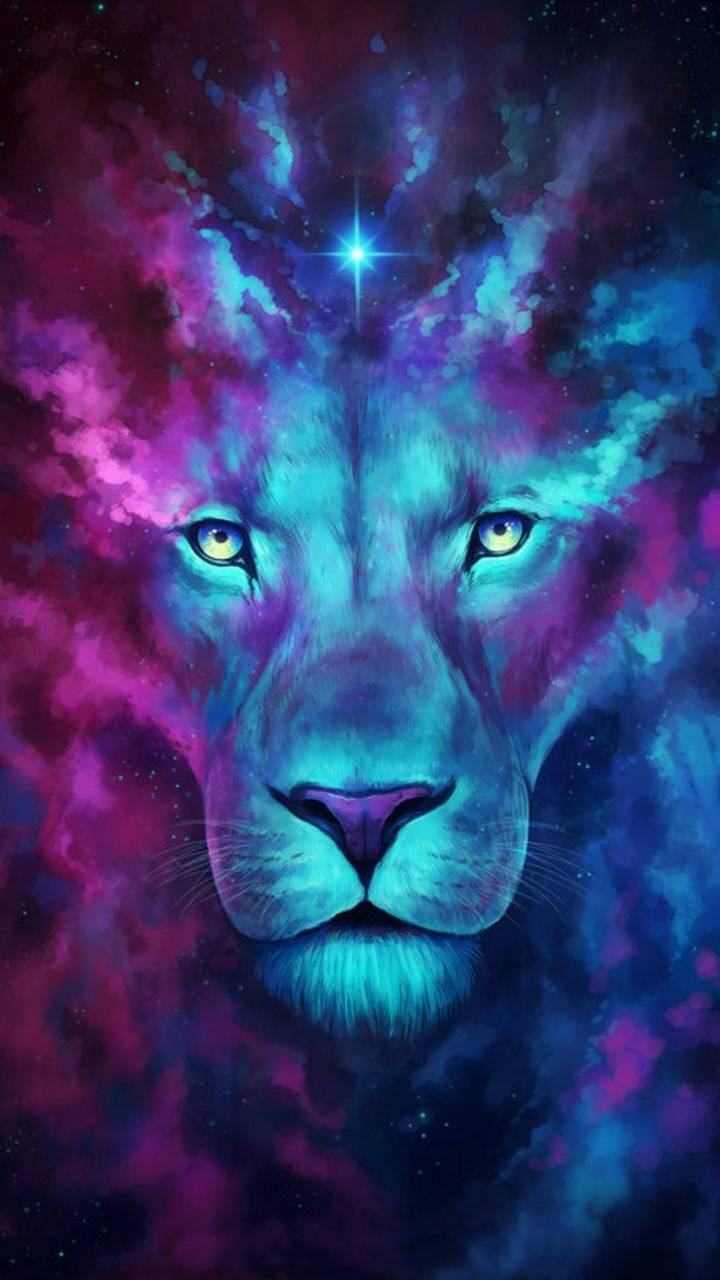 Abstract lions