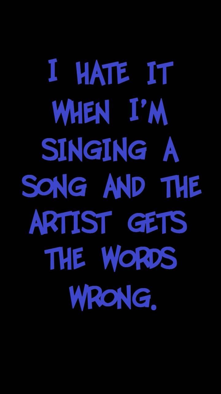 artist words wrong