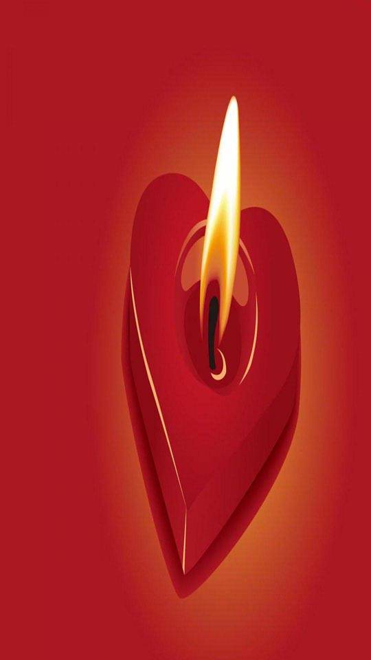 Love heart flame