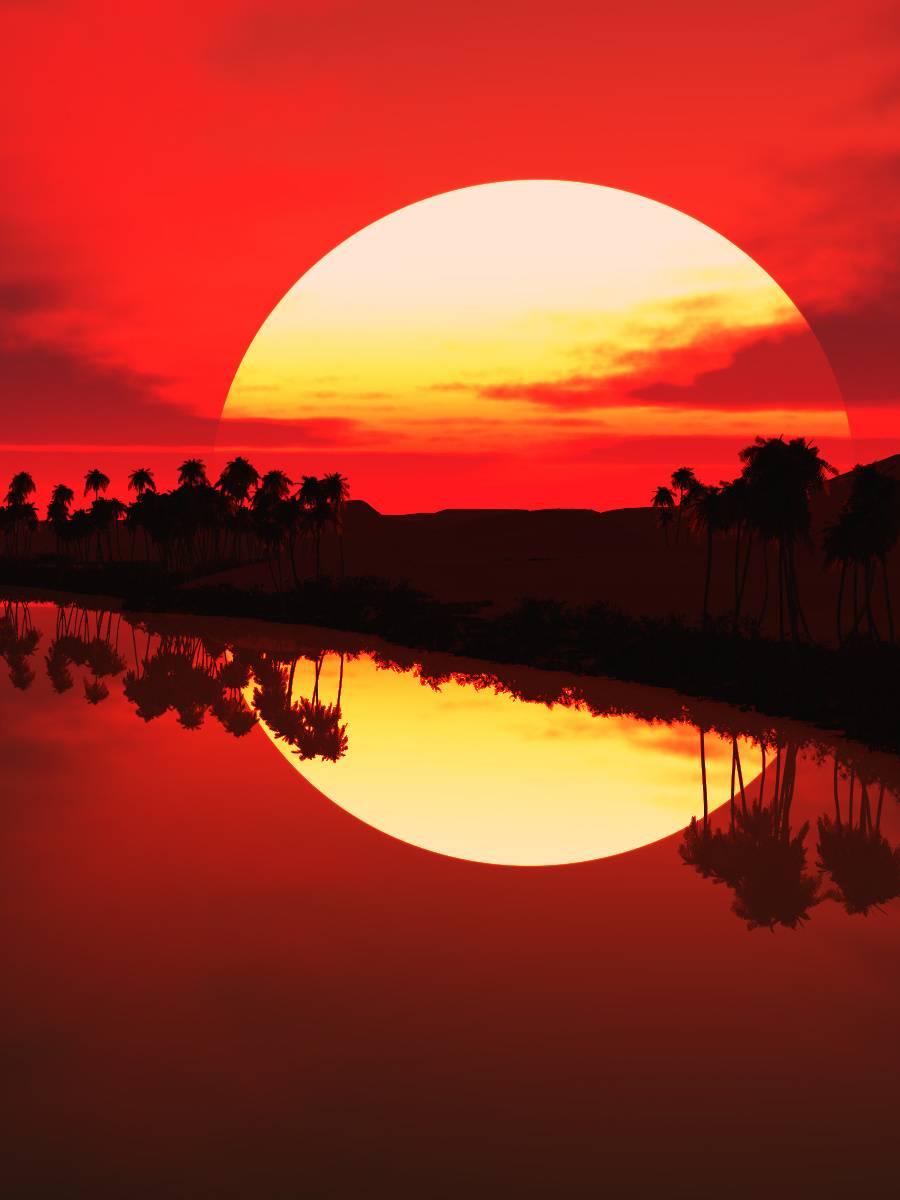 3d Sunset Wallpaper By Im Hinaraj D9 Free On Zedge