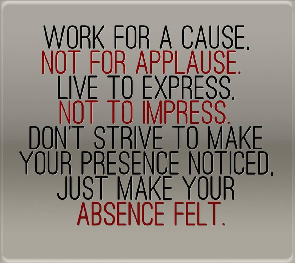 absence felt