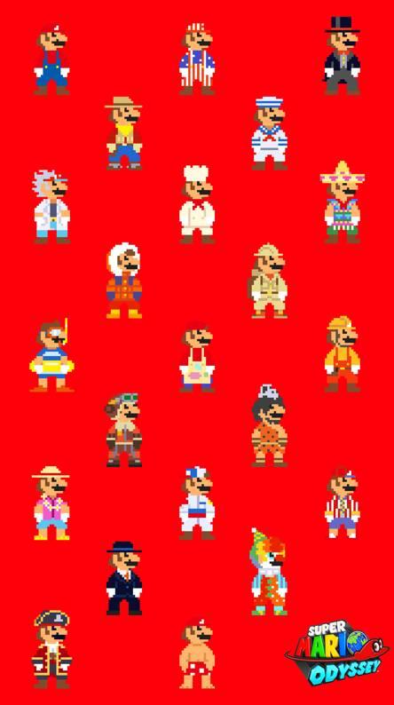 8-bit Mario Odyssey