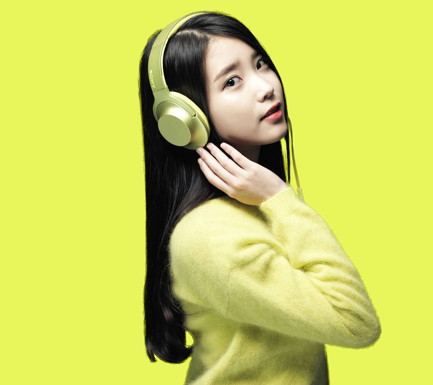 H Ear Lime Yellow