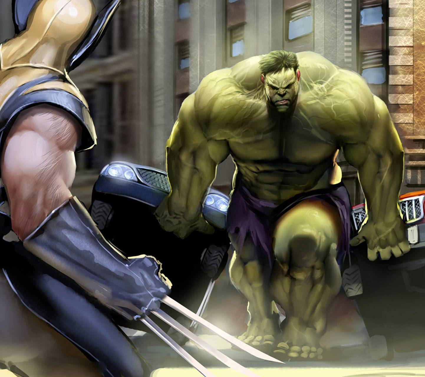 Wolverine Vs Hulk Wallpaper By DarkDroid