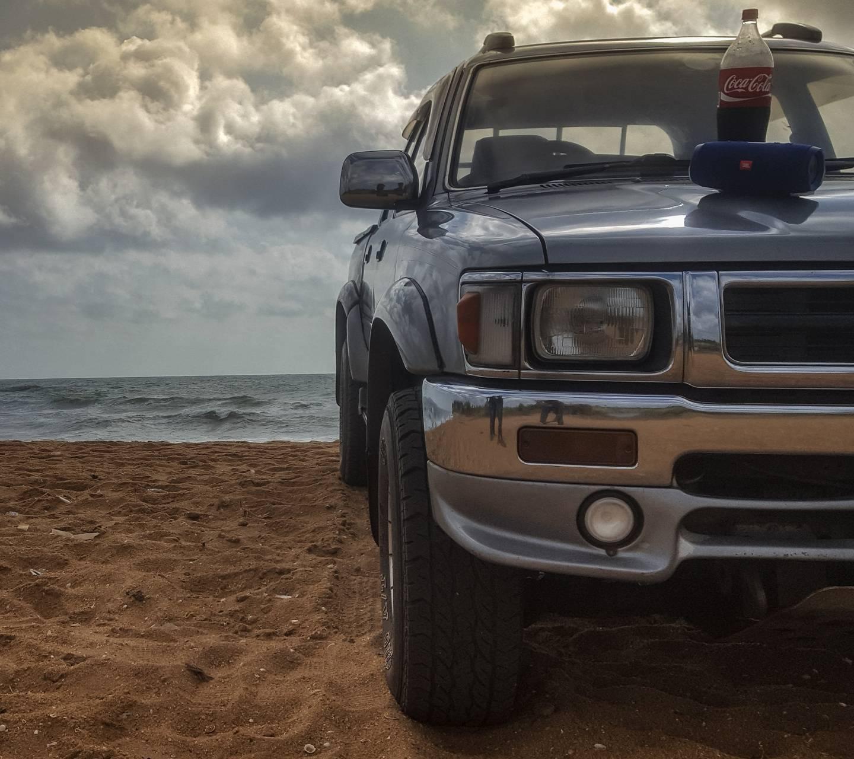 Hilux At Beach