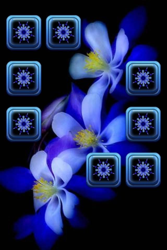 Blue Flower Shelf