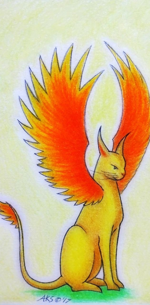Feline Phoenix -art