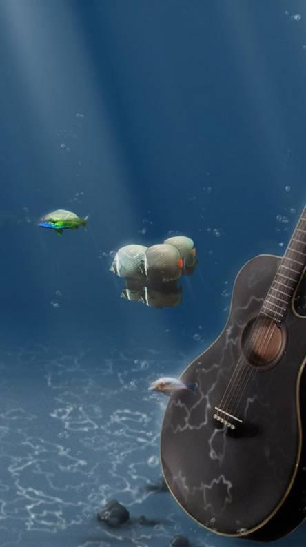Cool Guitar Wallpapers Guitar Underwater