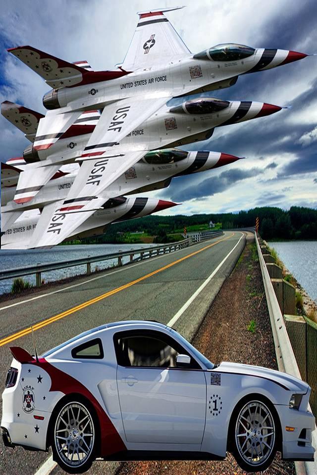 thunderbird with car