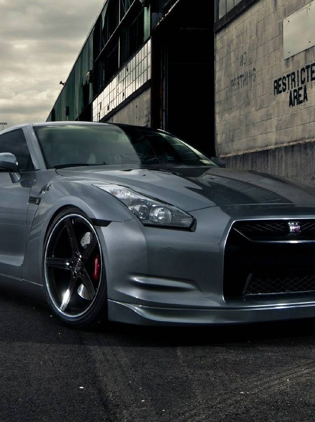 Silver Nissan Gtr