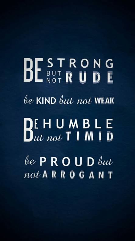 Strong Humble Proud