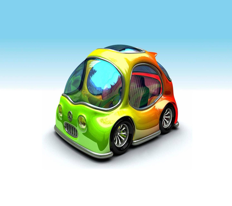 Colorful 3d car