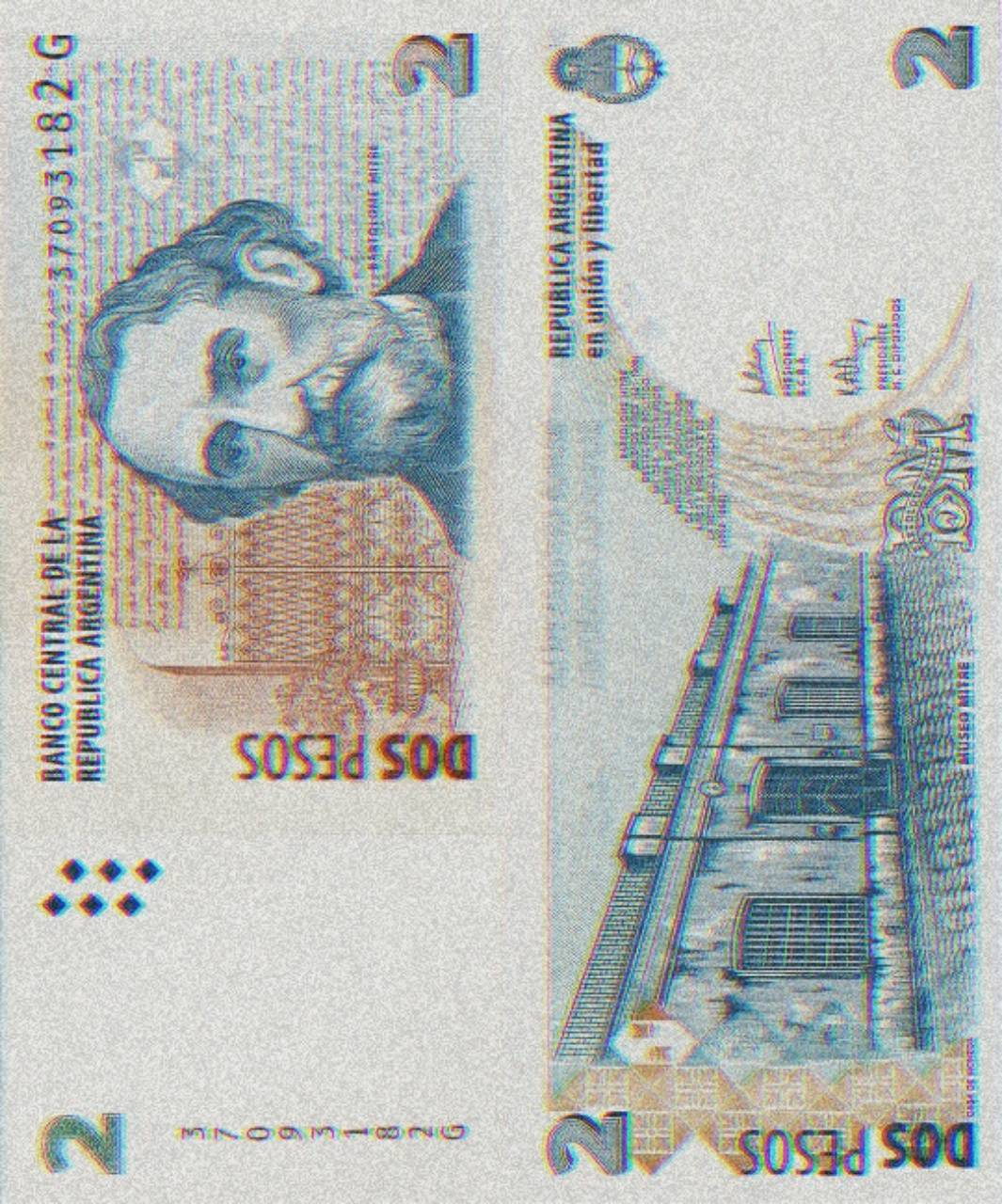 Dos pesos argentinos