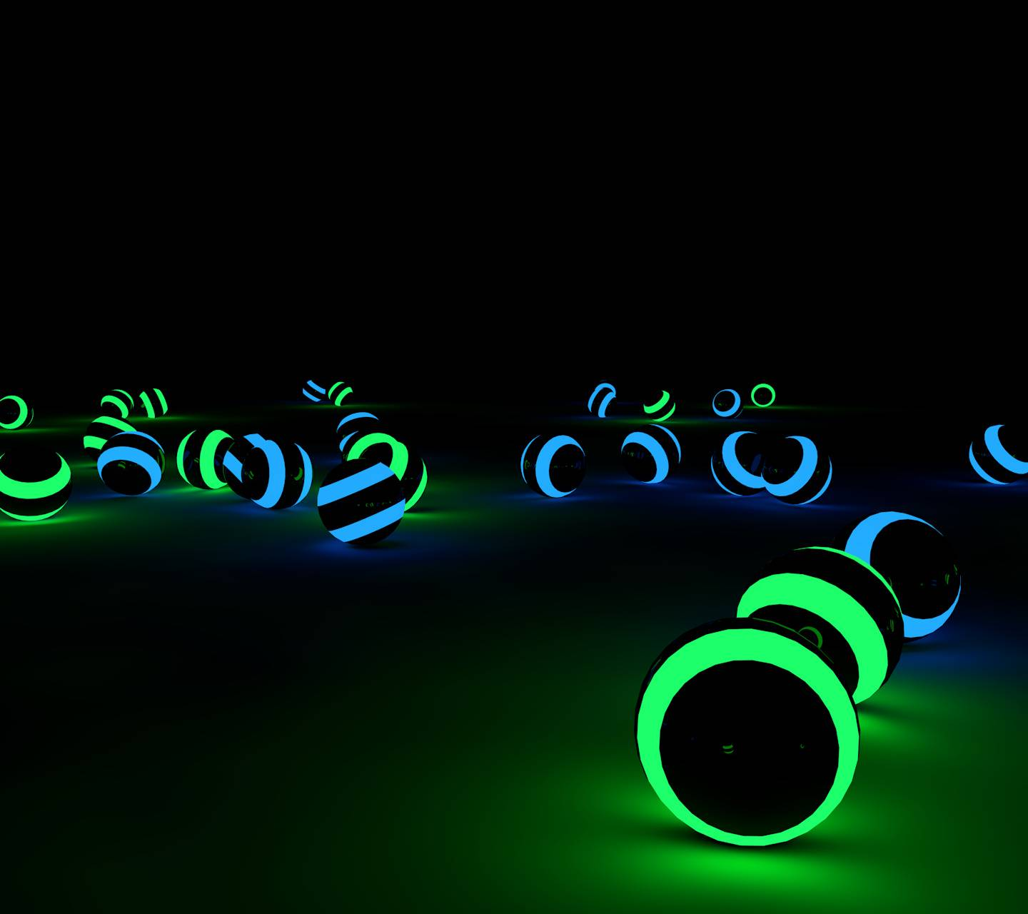 Glowing balls green