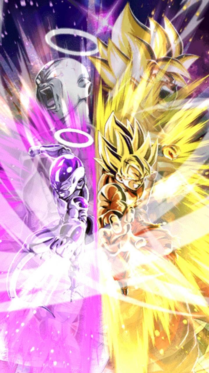 SSJ Goku and Frieza