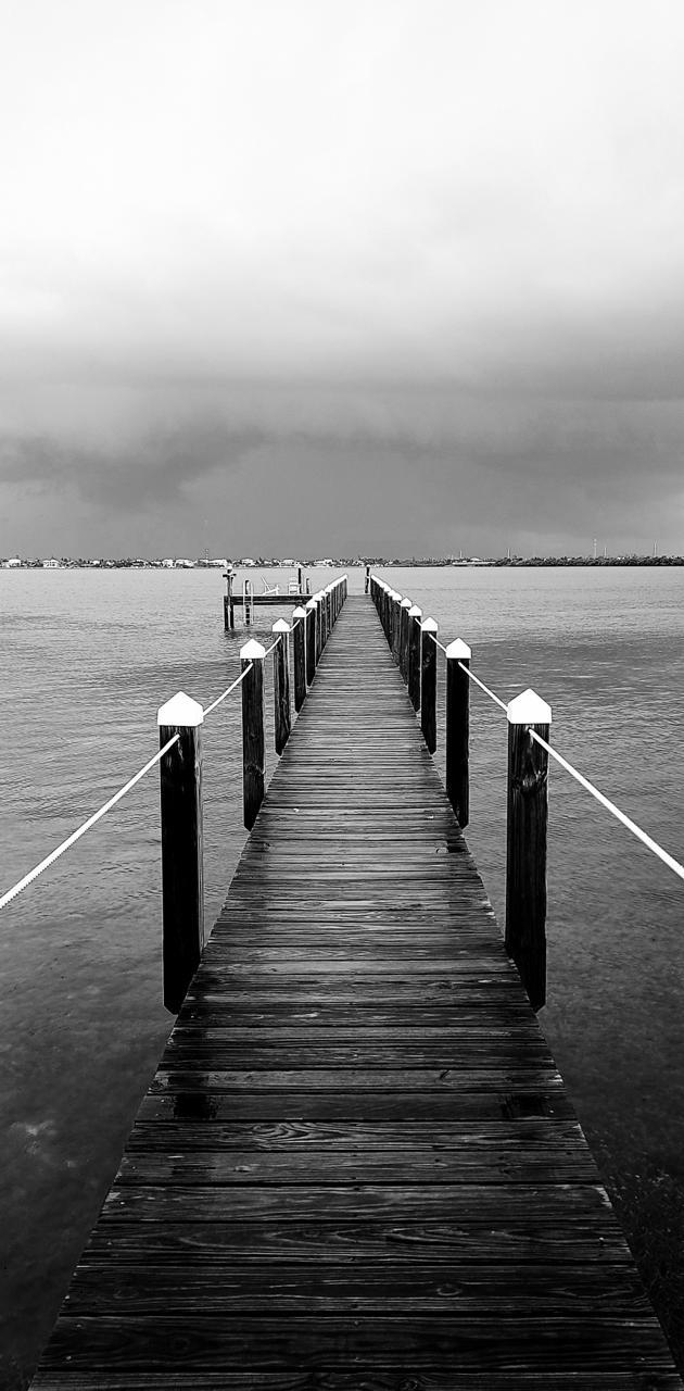 Dock After Storm
