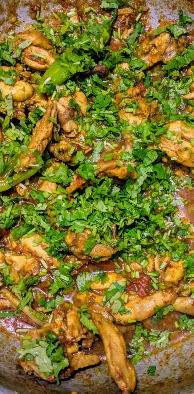 Chicken curry karahi
