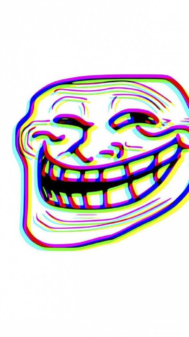 3D troll face
