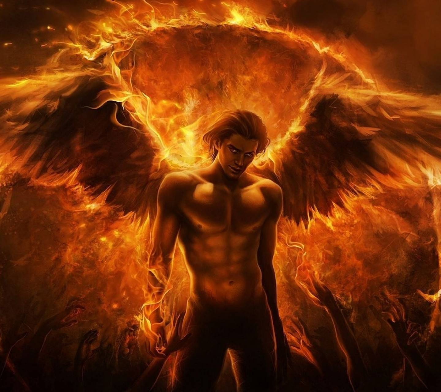 Wings with fire