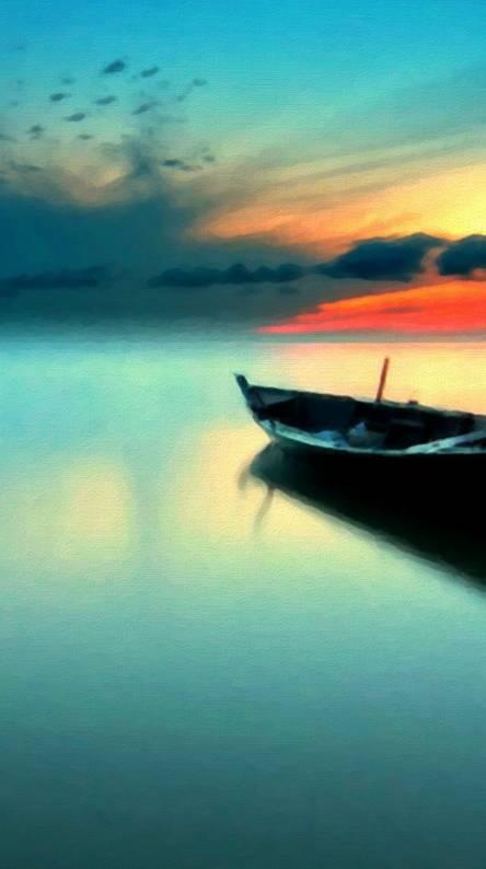 Sunset Boat Hd