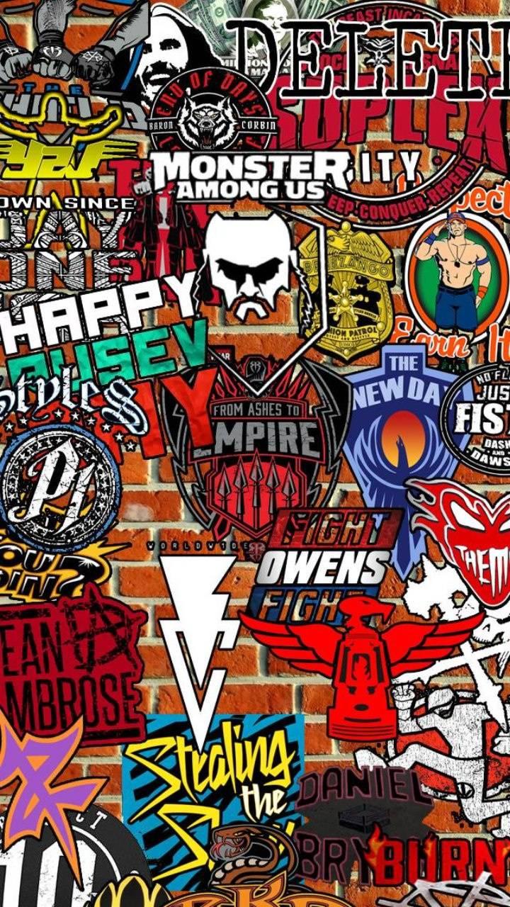 WWE Stickerbomb
