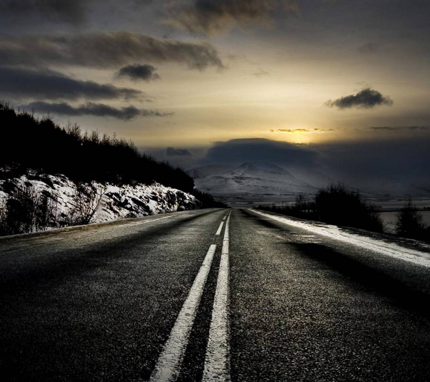 Dark Road Hd Wallpaper By Mabar7