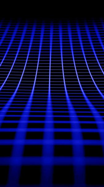 Blue Neon Grid