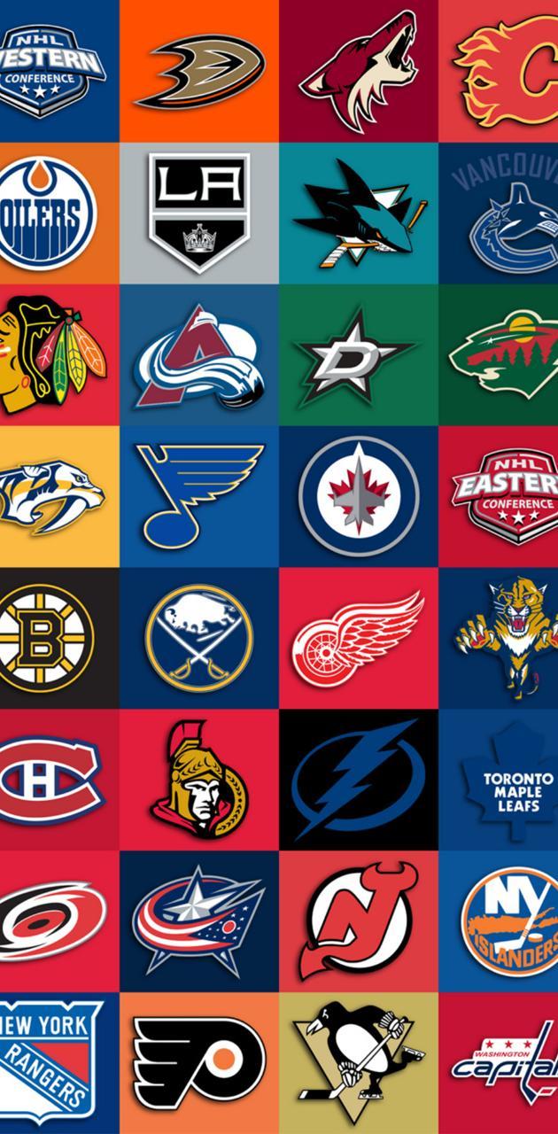 NHL team collage