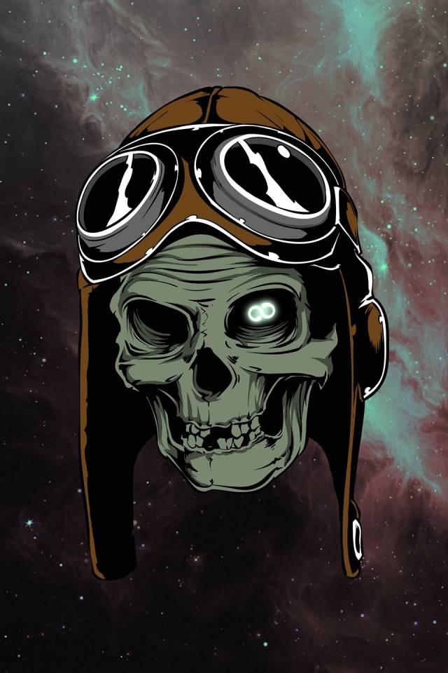 Skull aviator