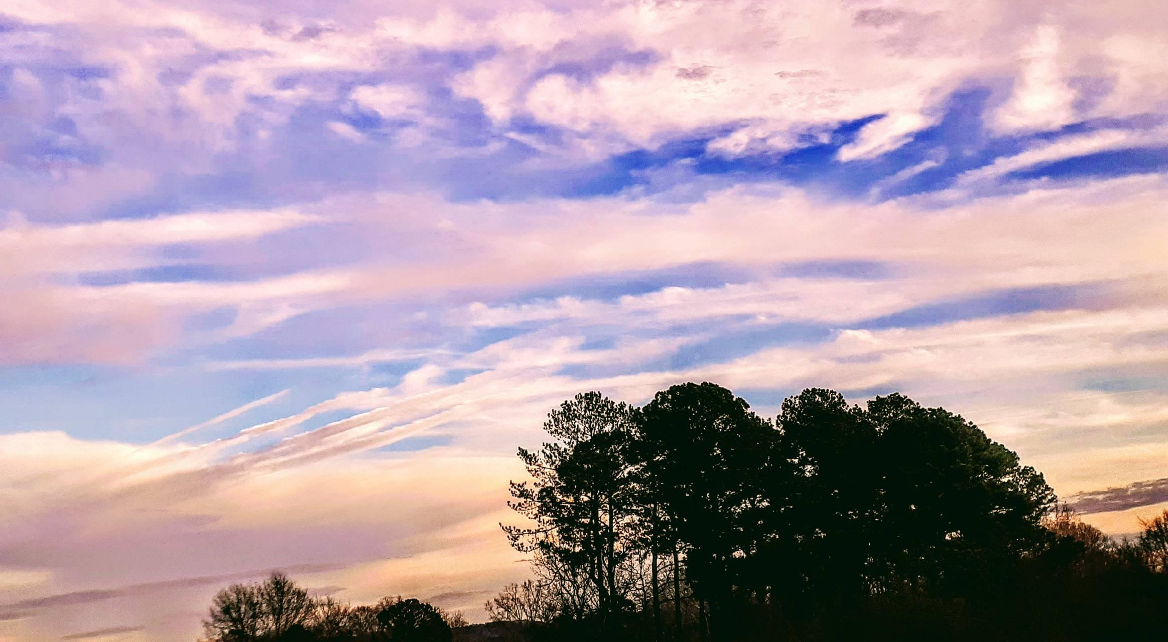 Blue n pink clouds