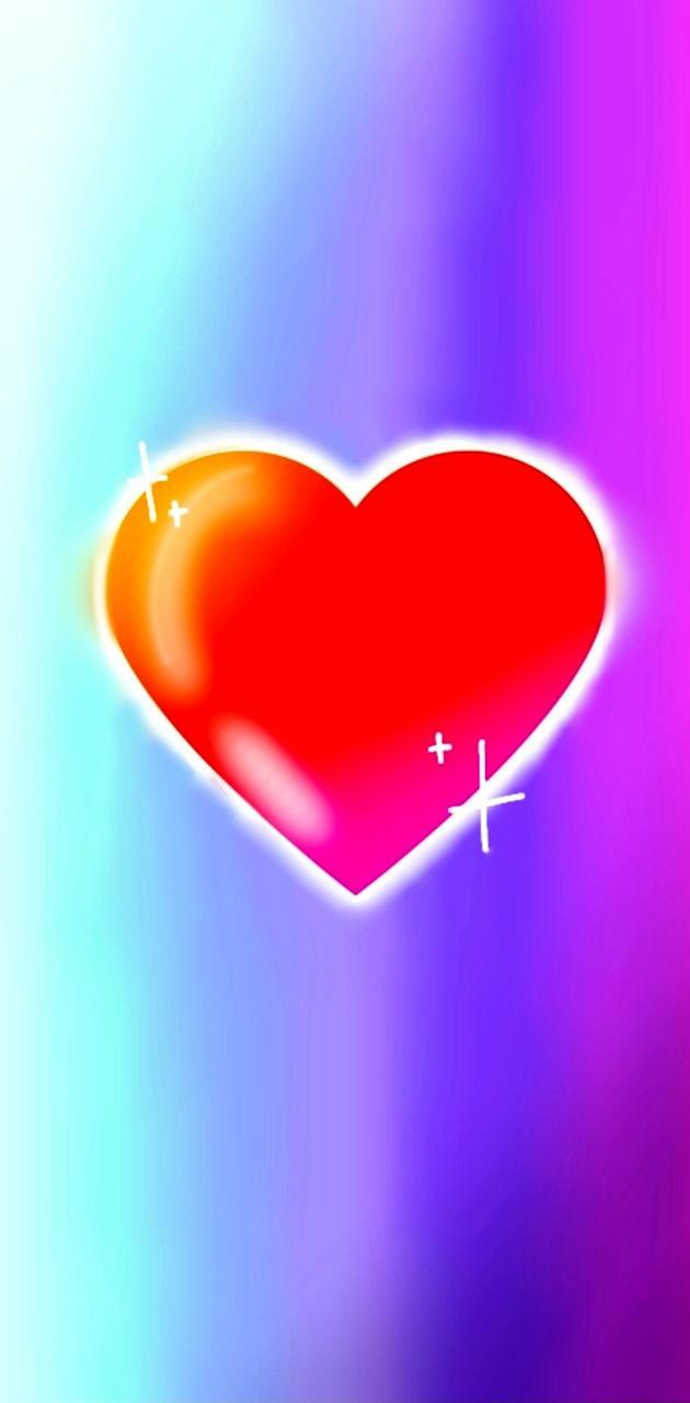 Shiny Ombre Heart