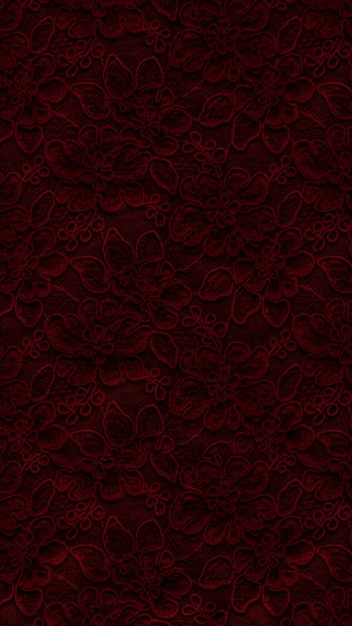 Dark Red Floral Lace