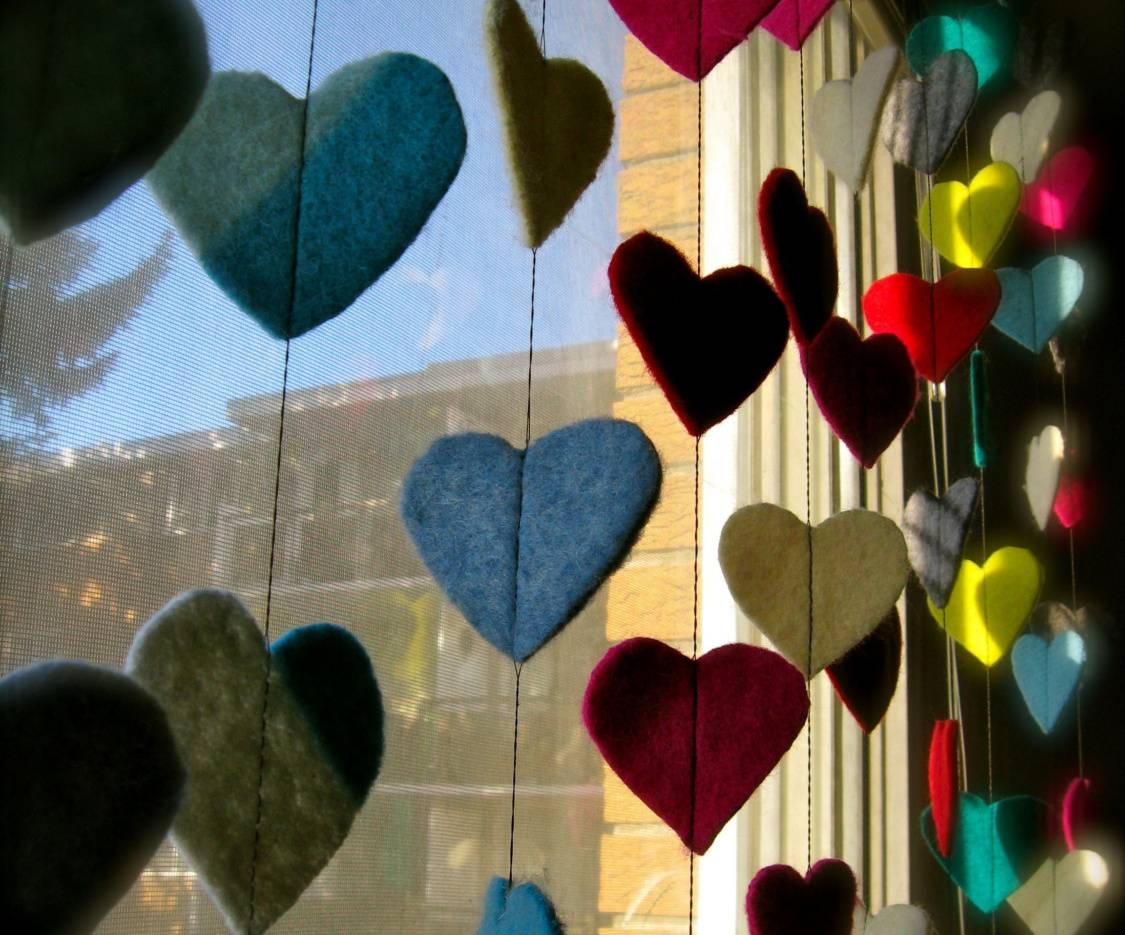 Colourful Hearts Hd
