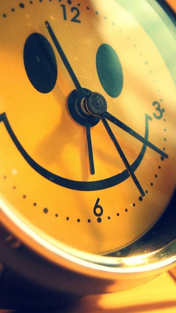 alarm clock smile