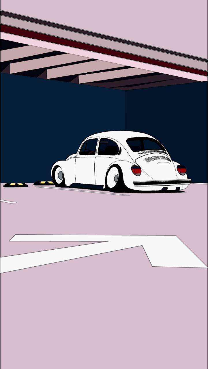 VW Beetle cartoon