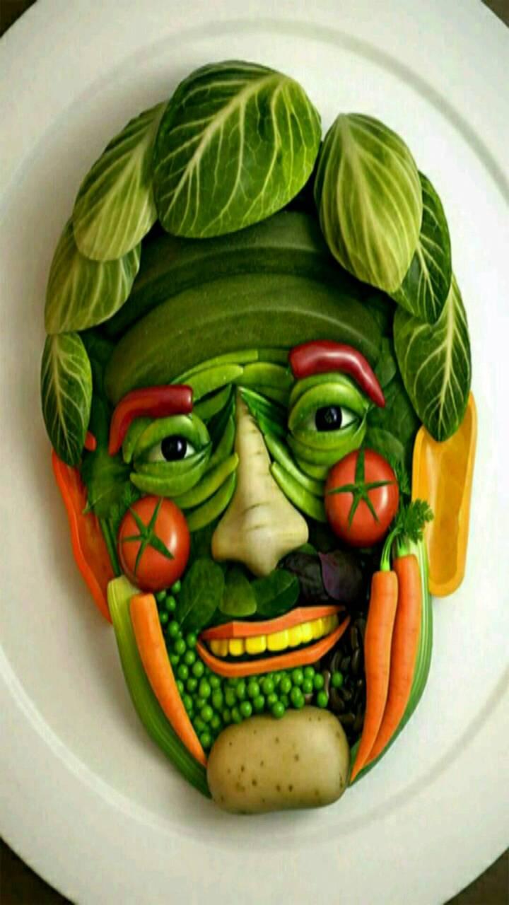 vegetables Art face