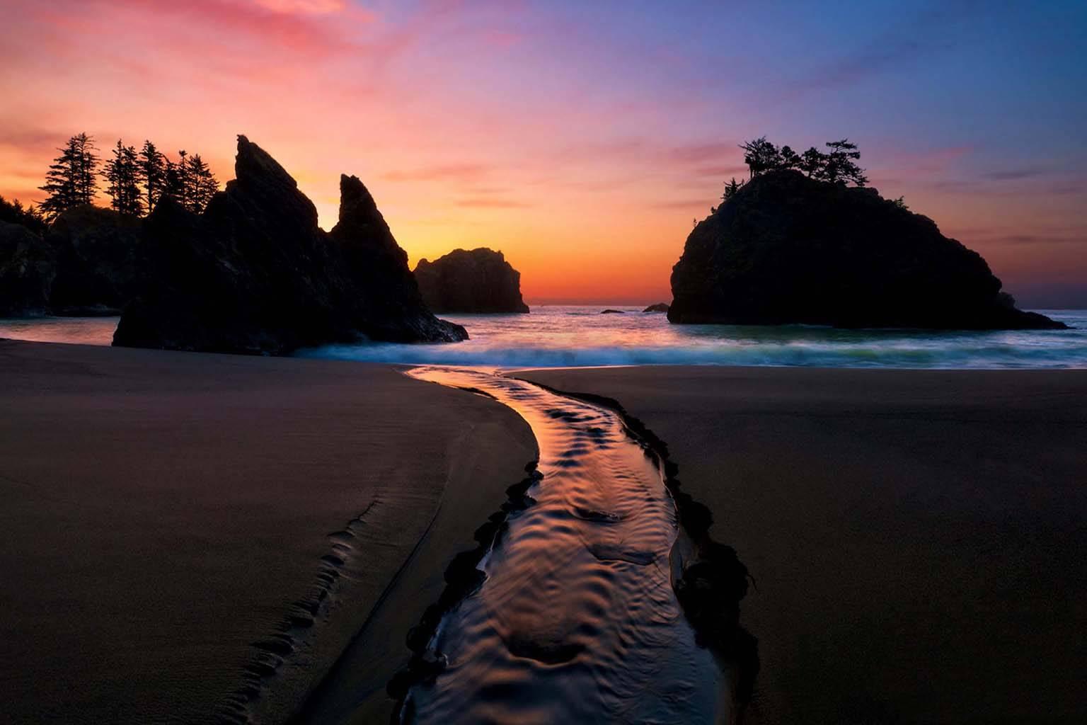 Coast beach sea