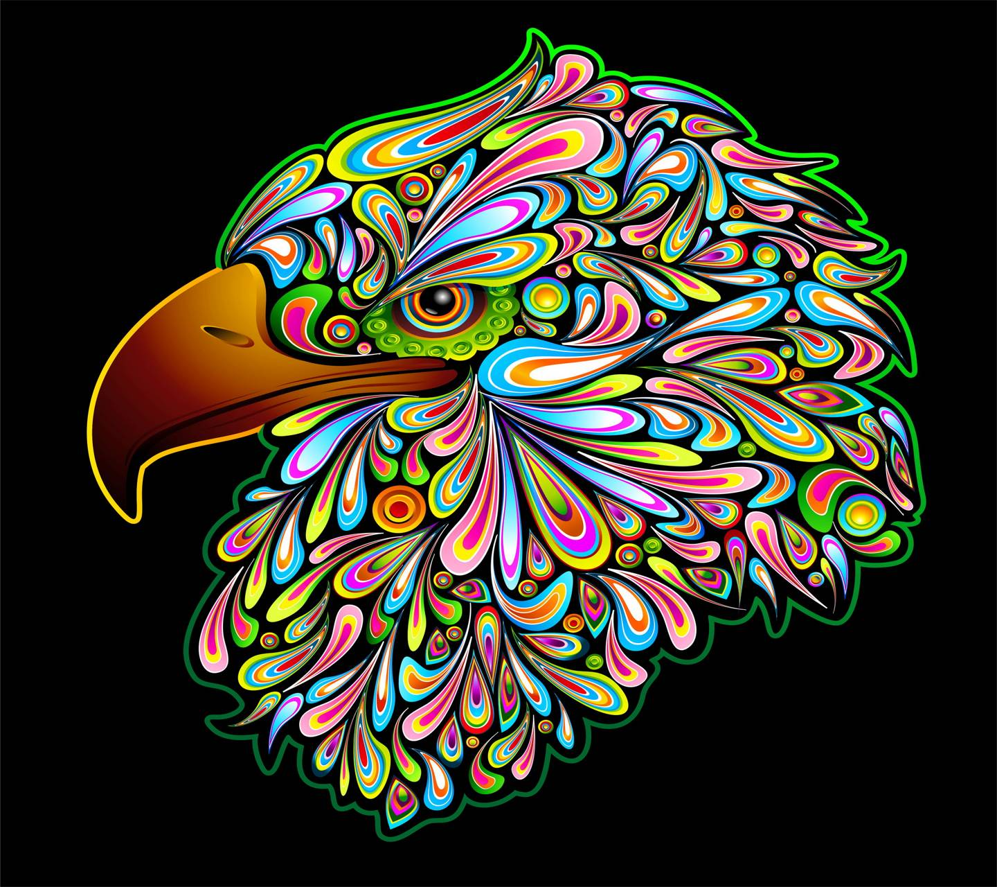 Abstract Eagle Wallpaper By ____S