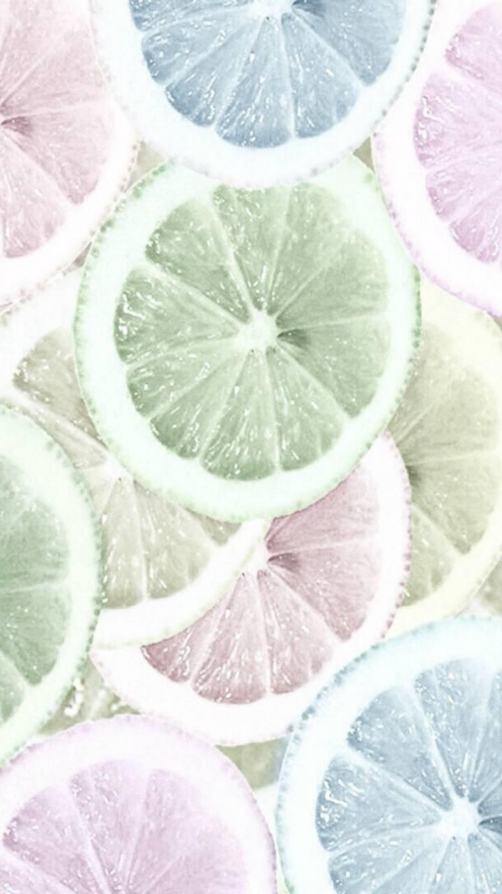 colorful slice lemon